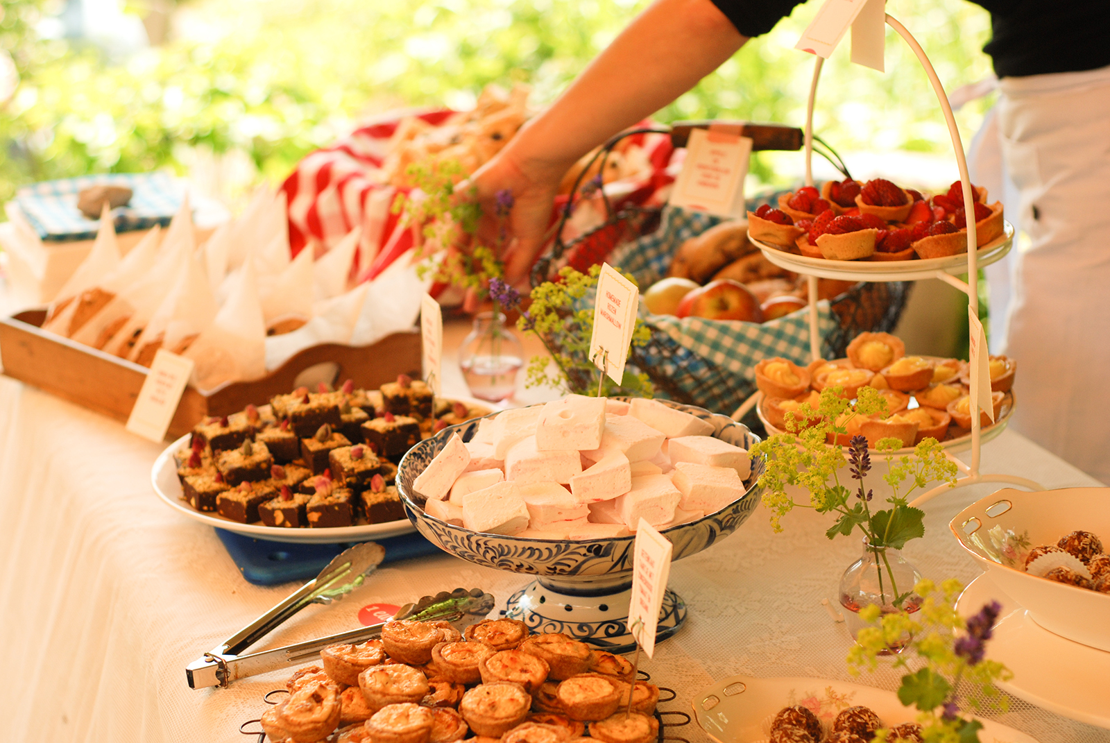 Een zomerse catering